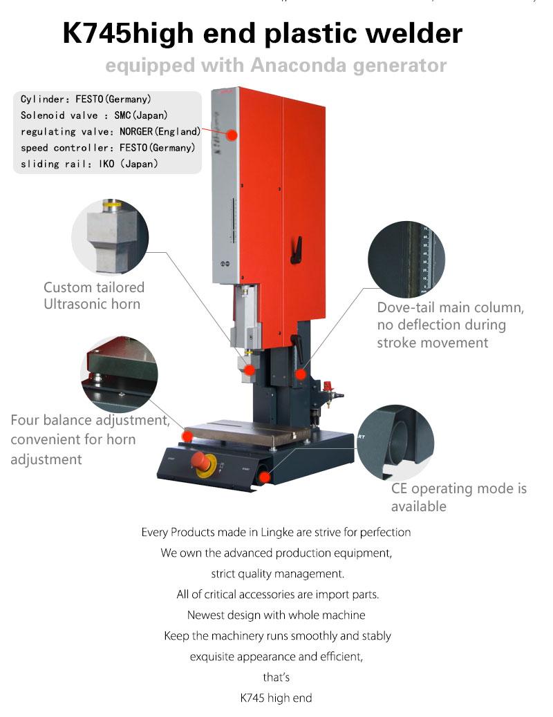 Lingao K745 High End ultrasonic welding machine,plastic